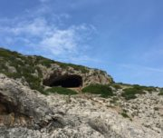 hidden cave on vis island