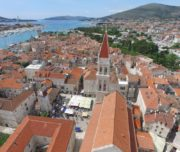 trogir from drone