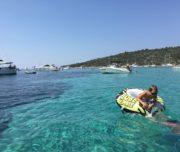 children on blue lagoon tour