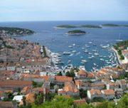 Hvar port from Fortica fortress